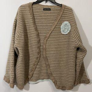 Fiona Lottamore Soft Knit Cardigan Brown Blue